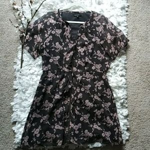 Madewell Broadway & BROOME Floral dress w/sleeves